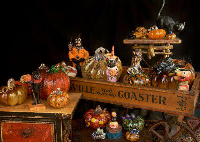 Halloween decor blown glass