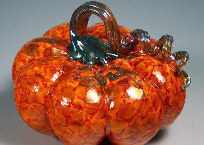 Classic blown glass pumpkin