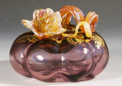 Clear brown glass pumpkin