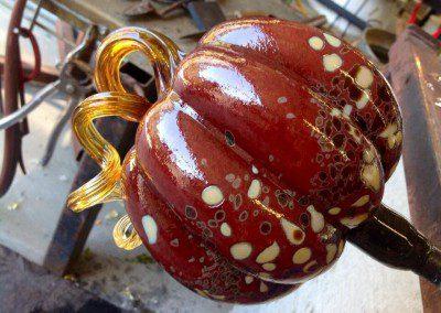 Glass pumpkin art in progress