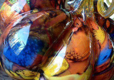 Glass pumpkin closeup
