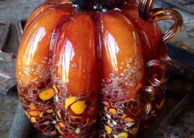 Glass pumpkin creation