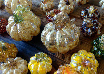 Glass pumpkins galore