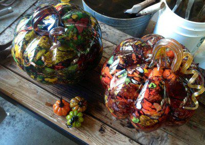 Amazing colors in glass pumpkins